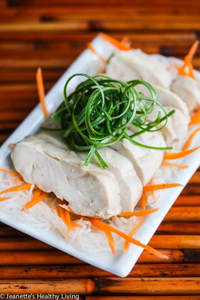 Sous Vide Chinese Drunken Wine Chicken - this is a traditional Chinese chicken recipe that is served cold, often as an appetizer. Sous vide guarantees a moist and juicy chicken