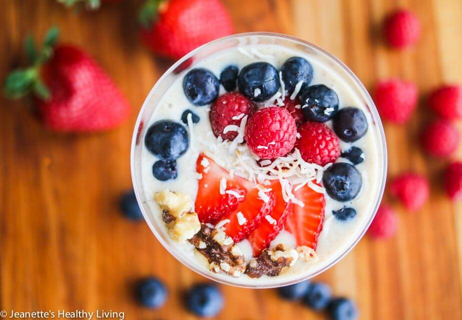 Banana Berry Flaxseed Smoothie Bowl - this is a healthy way to start the day and it's dairy free!