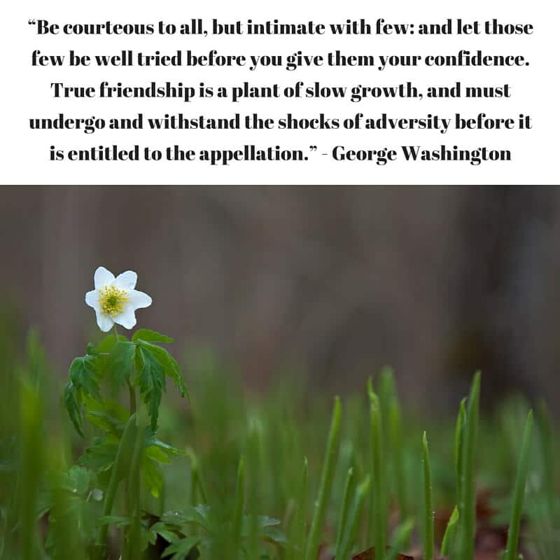 George Washington Quote on FriendshipGeorge Washington Quote on Friendship