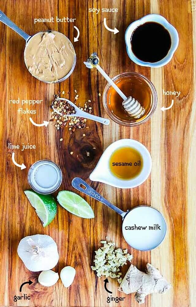 Spicy Peanut Butter Salad Dressing Ingredients