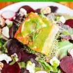 Salmon Beet Feta Salad