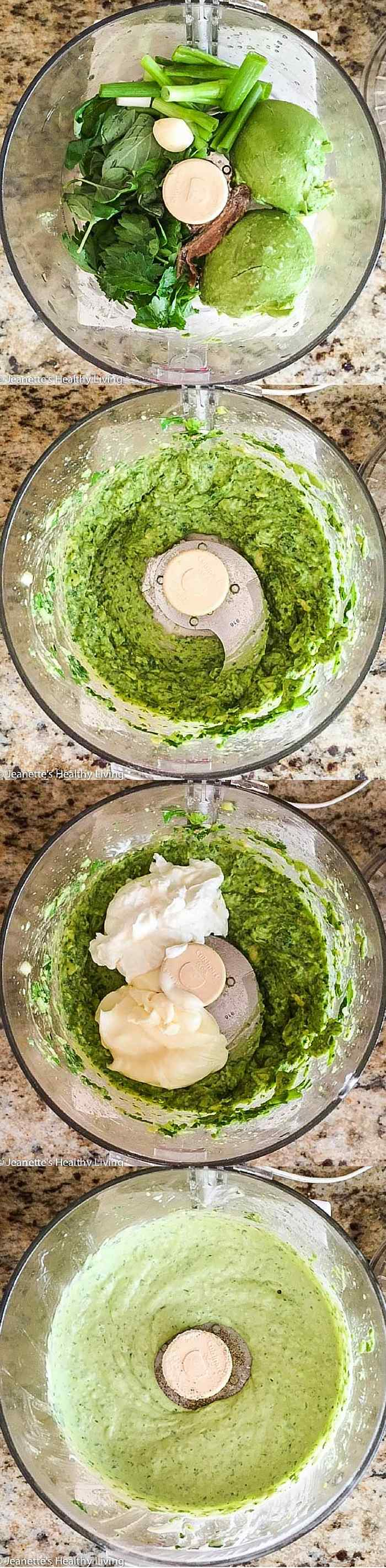 Avocado Greek Yogurt Green Goddess Dip - this light dip, made with Greek yogurt, is creamy and delicious - serve with an assortment of veggies for your next party