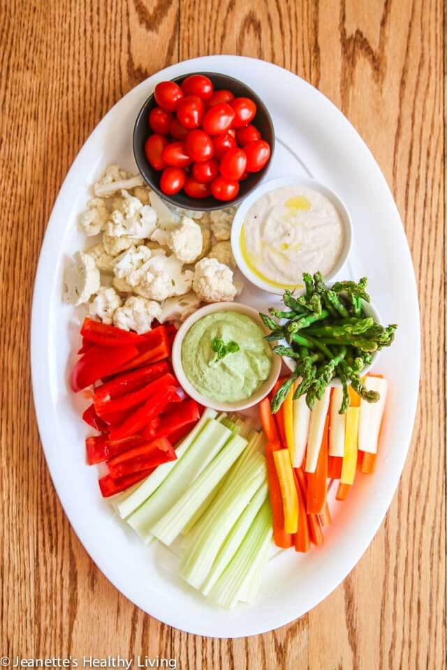 Avocado Greek Yogurt Green Goddess Dip - this light dip, made with fresh avocado and Greek yogurt, is creamy and delicious - serve with an assortment of veggies for your next party