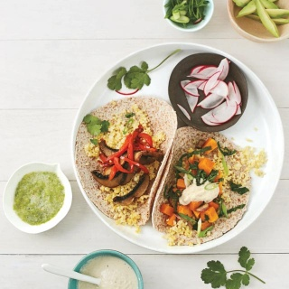 Millet Veggie Breakfast Tacos: Two Ways {GIVEAWAY}
