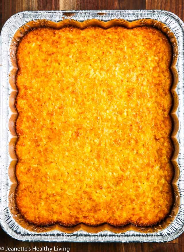 Real Corn Pudding - made with fresh corn and the finest ingredients, this summer side dish is perfect for barbecues and summer entertaining