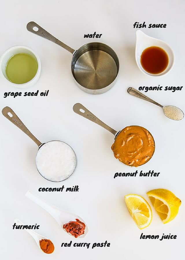 Thai Peanut Sauce - this recipe is a staple in our house - serve it with Thai chicken satay or beef satay skewers | https://jeanetteshealthyliving.com