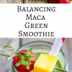 Balancing Maca Green Smoothie - this green smoothie is hormone balancing and a good source of protein and fiber for women 40+ ~ https://jeanetteshealthyliving.com