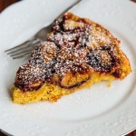 Fig Plum Torte - this fruit topped cake is made with whole wheat pastry flour, making it a healthy Fall dessert. Just 330 calories a serving ~ https://jeanetteshealthyliving.com