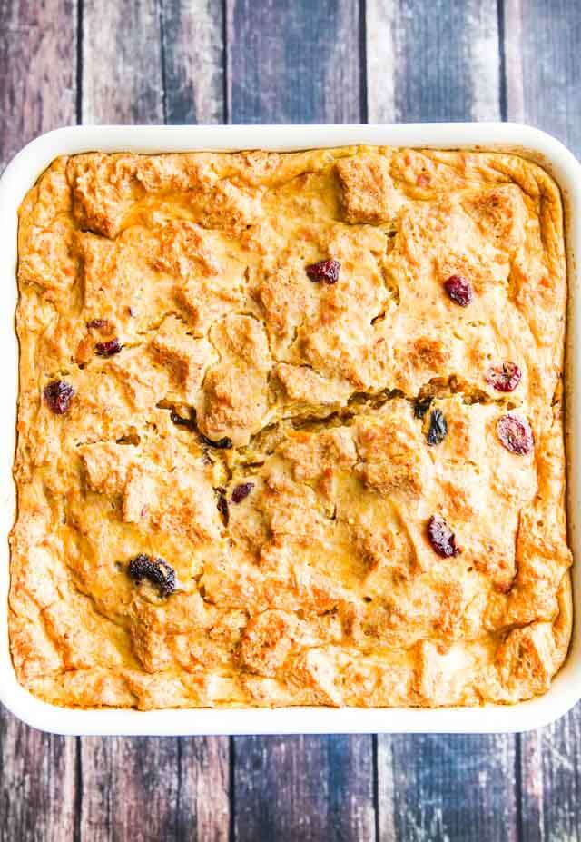 Healthy Pumpkin Orange French Toast Casserole - this lightened up French toast casserole is perfect for weekend breakfasts or brunches. It can also be reheated for busy weekday mornings ~ https://jeanetteshealthyliving.com
