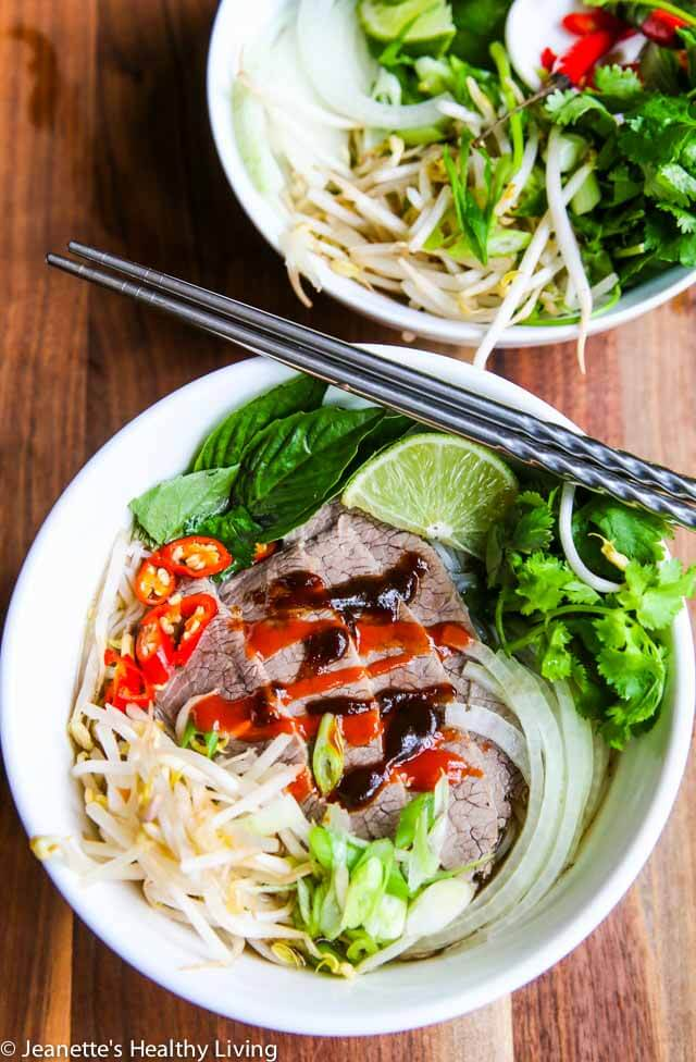 Vietnamese Beef Pho Noodle Soup - Learn how to make this traditional beef broth flavored with star anise, cloves and cinnamon
