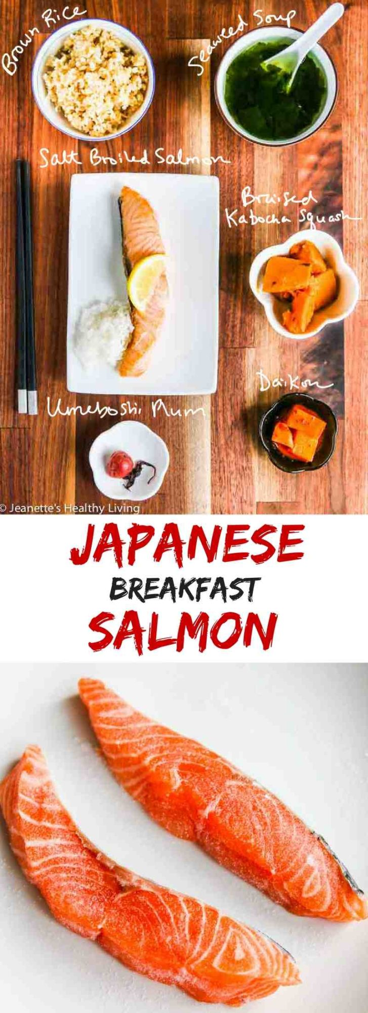 Japanese Breakfast Salmon - a healthy and delicious savory breakfast that will keep you satisfied until lunchtime