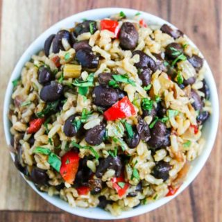 Gallo Pinto (Costa Rican Rice and Beans) - this versatile side dish can be served for breakfast, lunch or dinner. Made healthier with brown rice.
