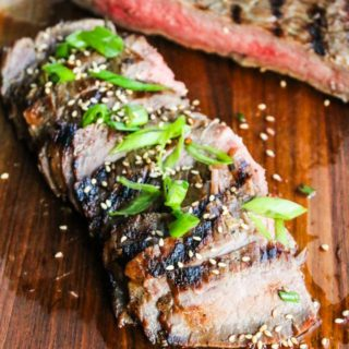 Asian Beer Marinated Flank Steak Recipe