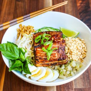 Cambodian Sweet Soy Noodle Bowl Recipe