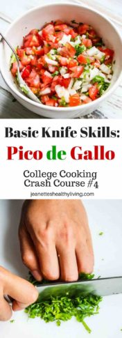 Pico de Gallo - learn basic knife skills - chopping, slicing, dicing, mincing