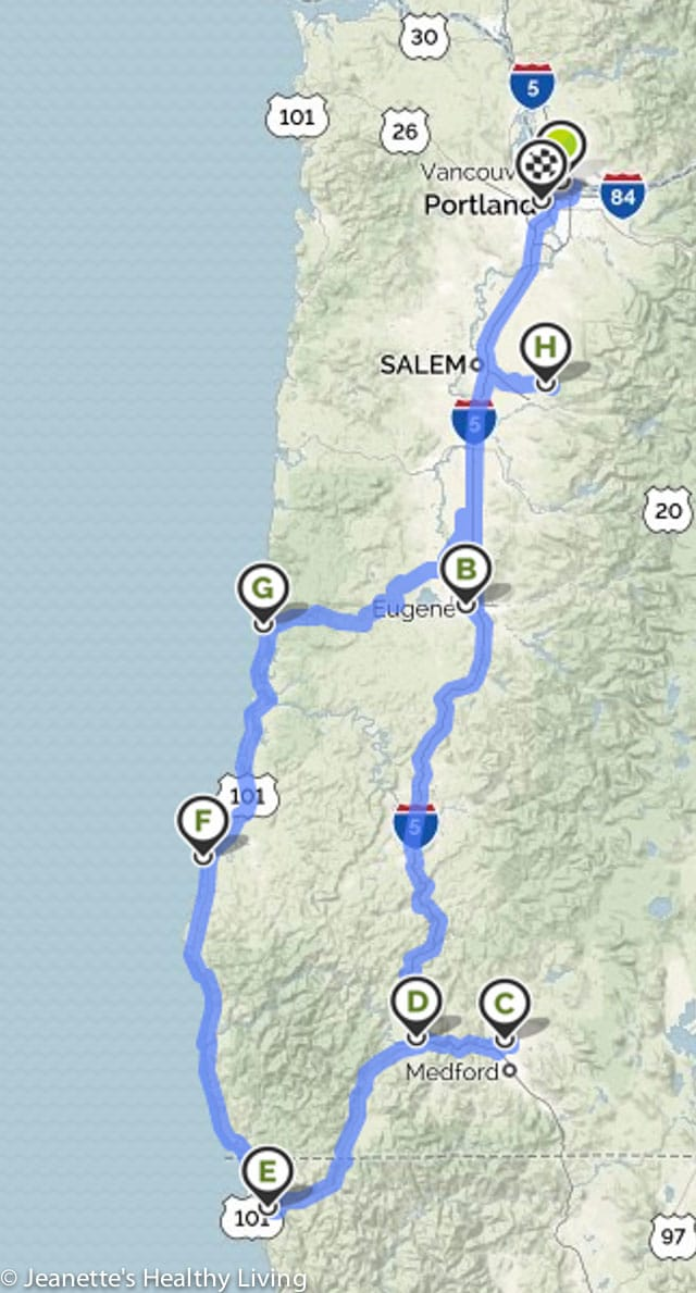 Oregon Roadtrip Map