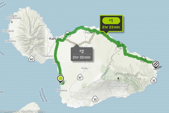 Road To Hana Map - beautiful views, waterfalls, lava tube, black beach, food trucks, coconut ice cream, banana bread
