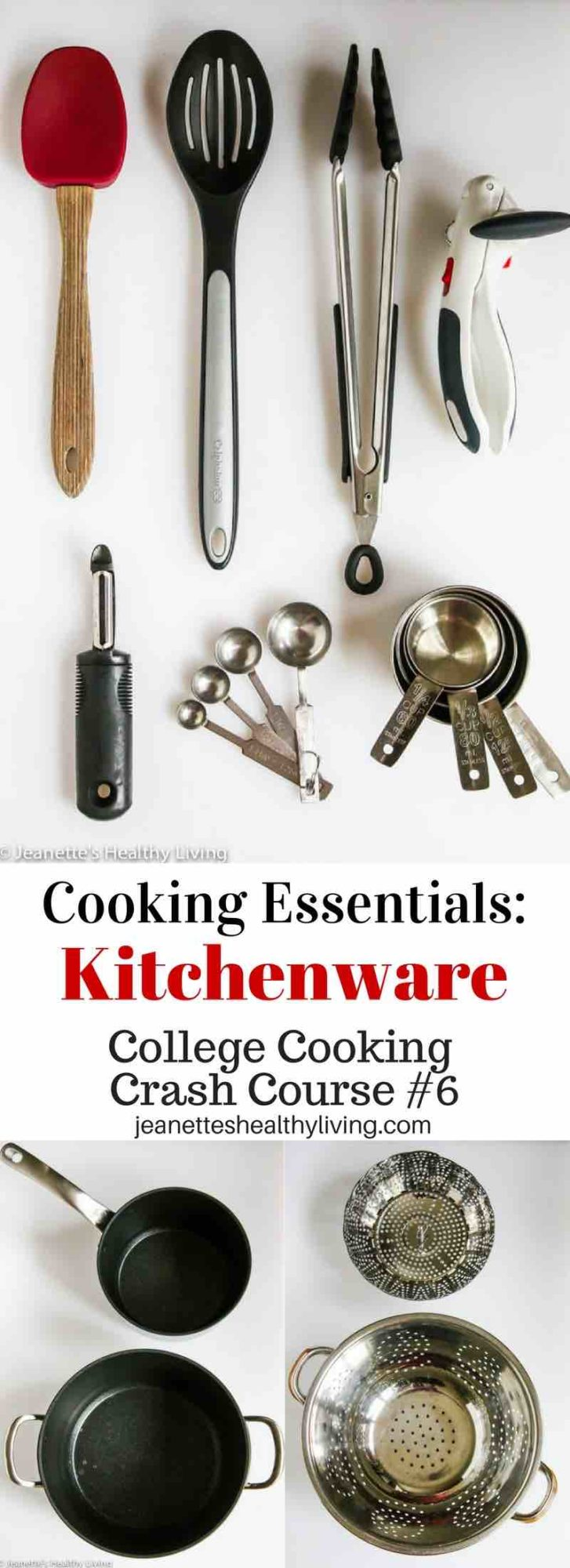 College Cooking Crash Course #6 - Cooking essentials kitchenware