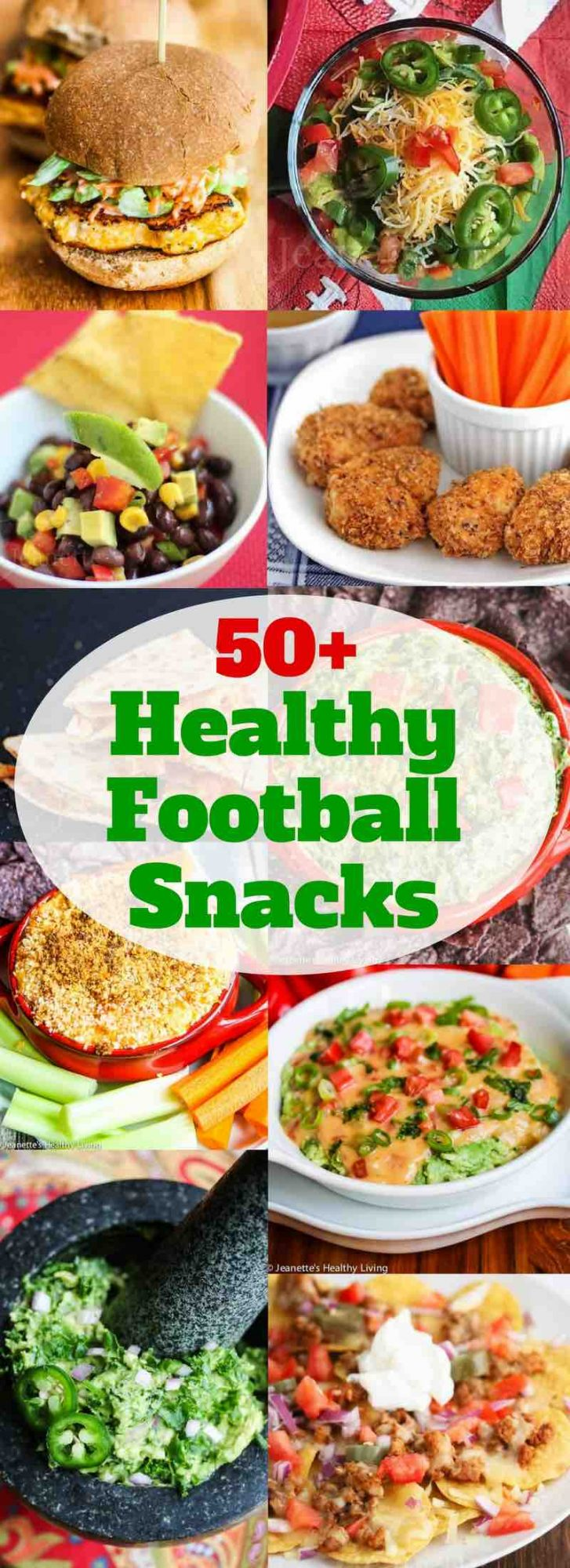 50+ Healthy Football Snacks - lightened up versions of favorite game day eats