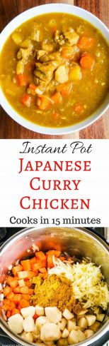 Instant Pot Japanese Curry Chicken - mild and sweet, this curry is very saucy and delicious over rice