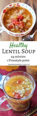 Healthy Lentil Soup - just 94 calories/1 Freestyle point per cup