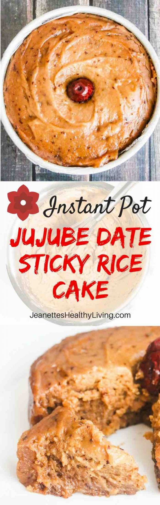 Jujube Date Sticky Rice Cake - traditional Chinese New Year sticky rice cake made with jujube date jam