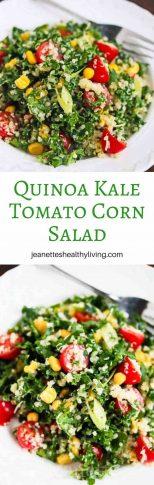 Quinoa Kale Tomato Corn Salad - light, healthy and delicious main course salad
