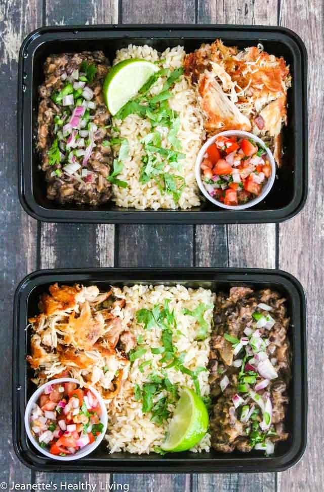 Meal Prep Carnitas Black Bean Bowl - delicious, healthy and filling