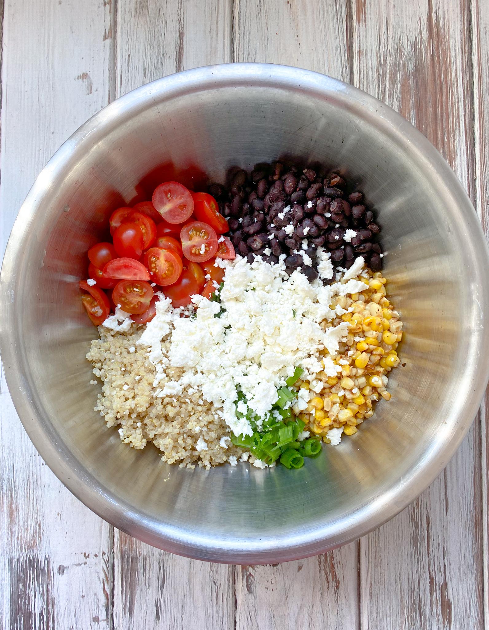 Mexican Corn Quinoa Salad Ingredients
