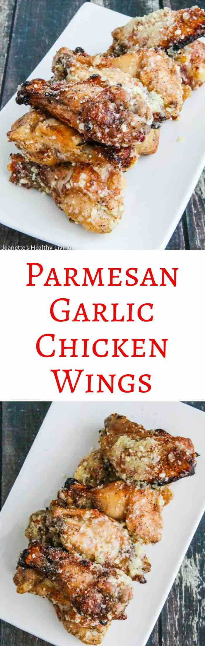 Parmesan Garlic Chicken Wings - garlicky and cheesy, these wings are lip smacking delicious. Made in oil-less fryer.