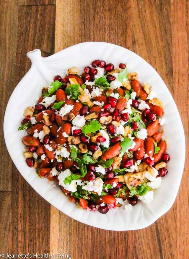 Georgian Lobio Kidney Bean Salad - great as a side dish for Georgian feast or for picnics
