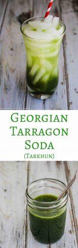 Georgian Tarragon Soda (Tarkhun) - refreshing summer beverage with a hint of anise flavor