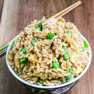 Vegetarian Fried Rice - simple, delicious, reheats well, perfect for meal planning
