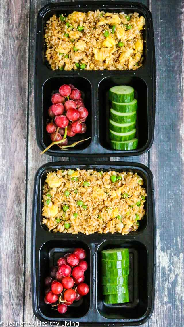Vegetarian Fried Rice - simple, delicious, reheats well, great for a crowd, perfect for brunch, lunch, dinner and meal planning