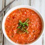 Watermelon Tomato Gazpacho - refreshing, delicious, low calories, no fat summer soup