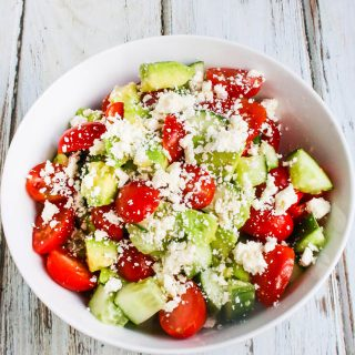 Avocado Tomato Cucumber Feta Salad Recipe