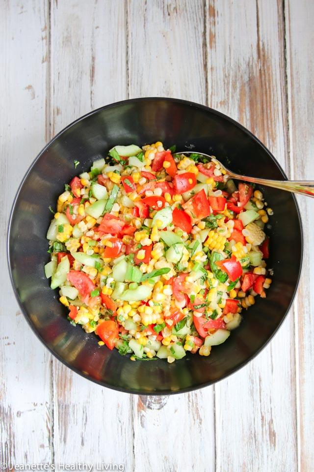 Farmer's Market Corn Salad - easy salad featuring summer produce at their peak