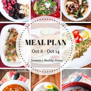 Healthy Meal Plan (October 8 – October 14)