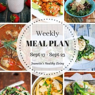 Healthy Meal Plan Sept 17 - Sept 23