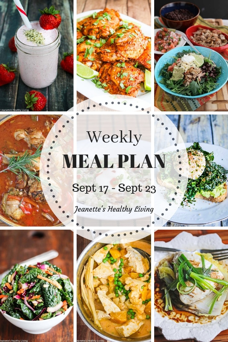 Healthy Meal Plan Sept 17 - Sept 23 - breakfast, lunch and dinner recipes and ideas to help get healthy meals on your family's table