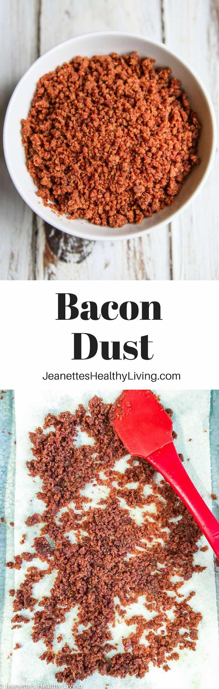 Bacon Dust - sprinkle on deviled eggs, avocado toast, and more