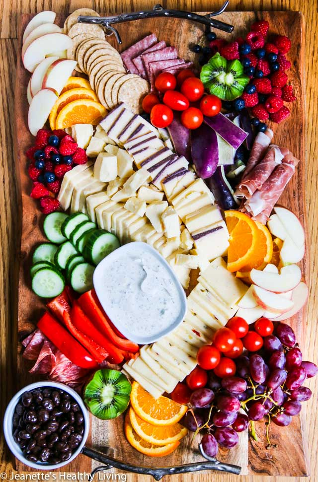 Grazing Platter - great for holiday entertaining; tips on creating the ultimate grazing platter