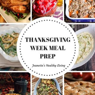 Thanksgiving Week Meal Prep - sample meal prep for Thanksgiving week and Thanksgiving Day to decrease stress on the big day