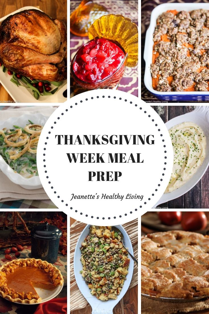 Thanksgiving Week Meal Prep - Sample meal prep plan for Thanksgiving week and Thanksgiving Day to decrease stress on the big day