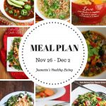 Weekly Meal Plan Nov 26