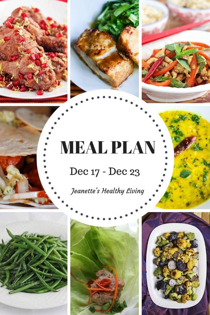 Weekly Meal Plan Dec 17 - Dec 23