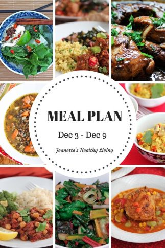 Weekly Meal Plan Dec 3 - Dec 9 -breakfast, lunch and dinner recipes and ideas to help get healthy meals on your family's table