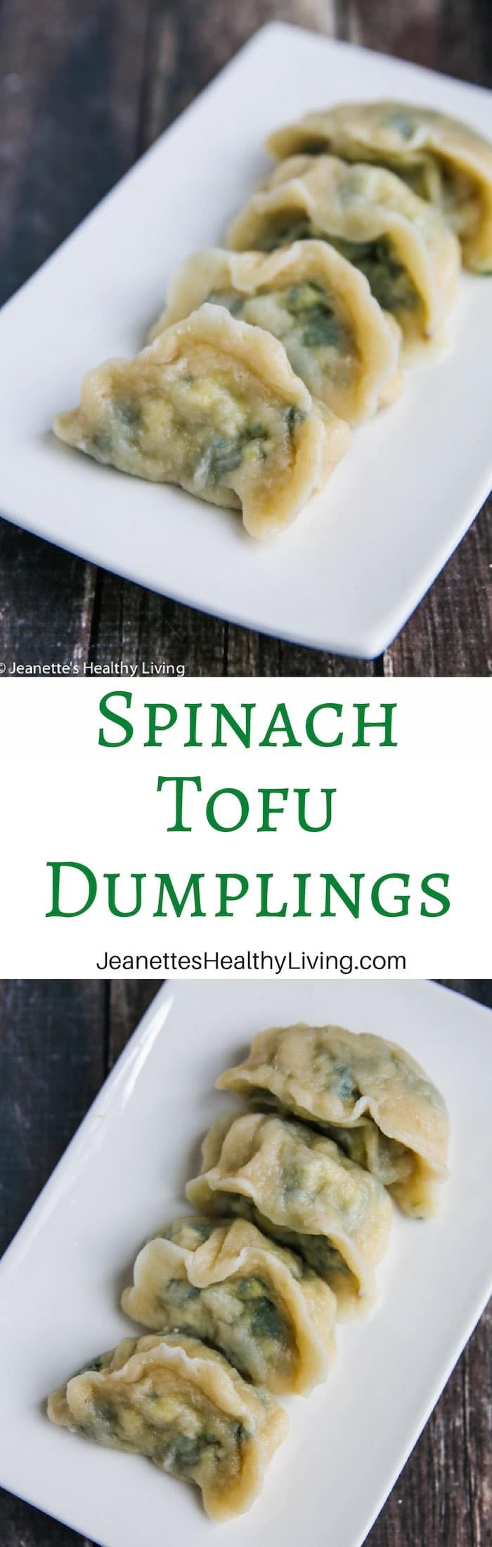 Spinach Tofu Dumplings - light vegetarian dumplings, packed with protein and iron