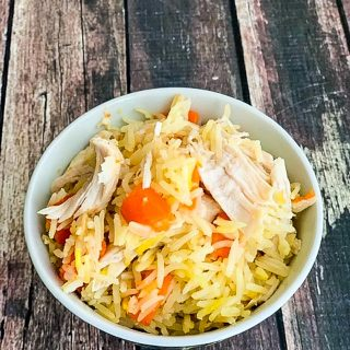 Chicken Saffron Rice Pilaf
