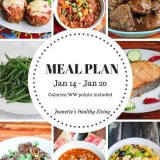 Weekly Meal Plan Jan 14